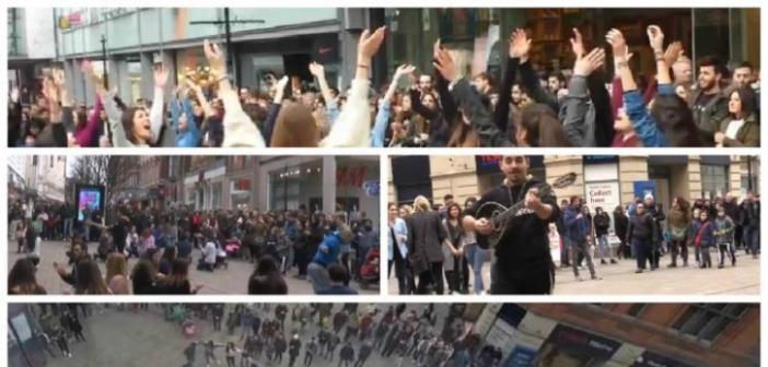 Έλληνες και Κύπριοι ξεσήκωσαν σήμερα την Αγγλία, χορεύοντας συρτάκι!!!(βίντεο)