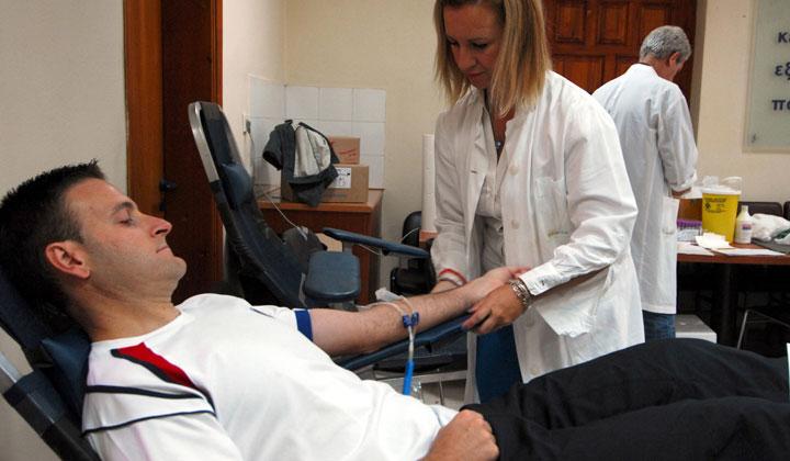 Εθελοντική αιμοδοσία στο ΣΔΕ Αγρινίου