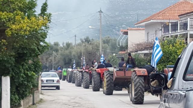 Πορεία των Αγροτών της Αλυζίας μέσα από χωριά της περιοχής