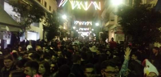 """Πάτρα: """"Βροχή"""" οι μηνύσεις για ηχορύπανση στα μαγαζιά του κέντρου, την Κυριακή του Καρναβαλιού!"""