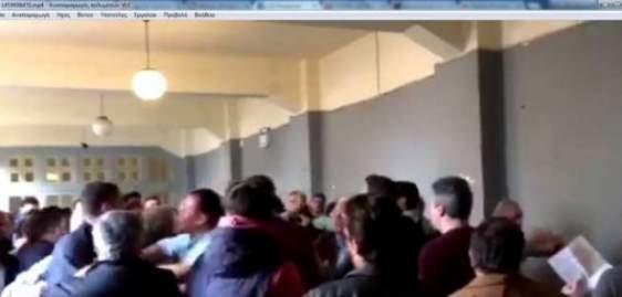 Ξυλο στις εκλογές της ΝΟΔΕ Αχαϊας ΝΔ – Τι κατέγραψε ερασιτεχνική κάμερα (ΔΕΙΤΕ ΒΙΝΤΕΟ)
