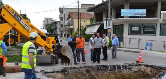 Επίσκεψη του Δημάρχου στο έργο για την υδροδότηση του Αγίου Κωνσταντίνου (ΔΕΙΤΕ ΦΩΤΟ-ΒΙΝΤΕΟ)