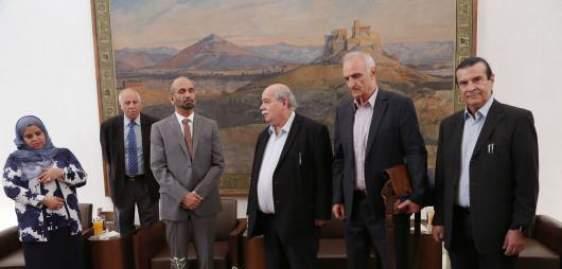 Συνάντηση Ν. Βούτση και Γ. Βαρεμένου με τον Πρόεδρο του Αραβικού Κοινοβουλίου για το προσφυγικό