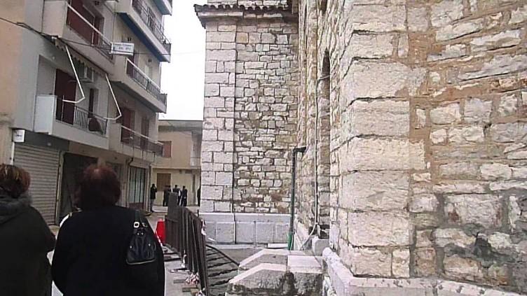Αποκατάσταση φθορών στην πλακόστρωση της περιοχής του Αγίου Σπυρίδωνα Μεσολογγίου