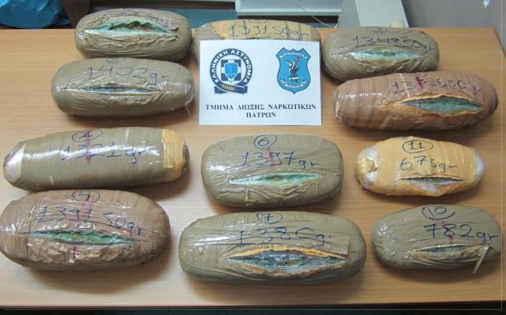 Δυτική Ελλάδα: Ο «Ρίκι» μύρισε τα ναρκωτικά – Μπλόκο σε 14 κιλά χασίς!
