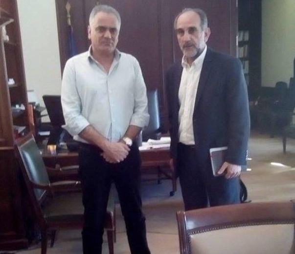 Συνάντηση του Περιφερειάρχη Απ. Κατσιφάρα με τον Υπουργό Εσωτερικών Π. Σκουρλέτη