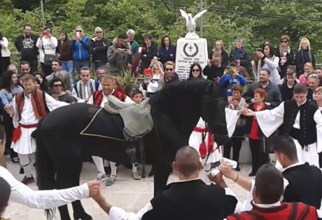 Ένα άλογο.. χορεύει τσάμικο στο Άνω Καστρίτσι (ΔΕΙΤΕ ΒΙΝΤΕΟ)