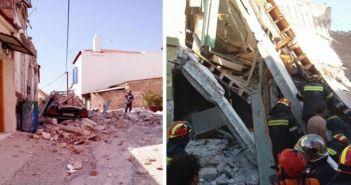 Σεισμός στη Μυτιλήνη: Ανασύρθηκε νεκρή γυναίκα από τα ερείπια