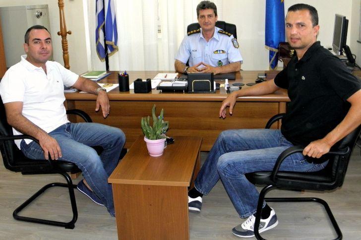 Συνάντηση μεταξύ του Εμποροβιομηχανικού Συλλόγου Μεσολογγίου και του Αστυνομικού Διευθυντή Αιτωλίας
