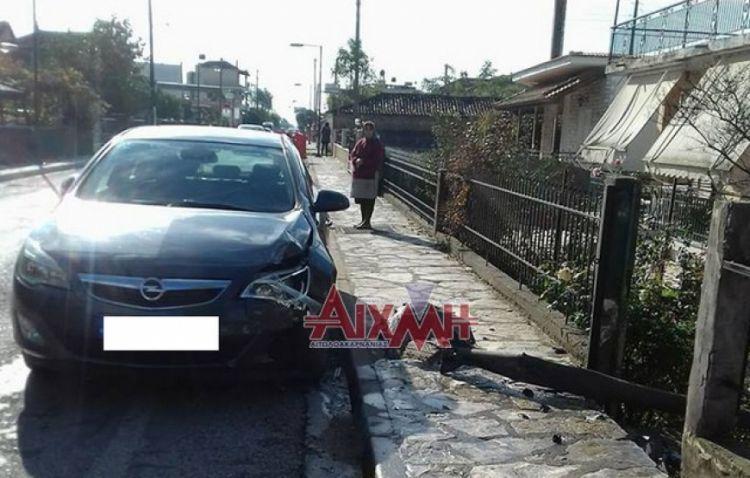 Τροχαίο ατύχημα στη Γουριά (ΦΩΤΟ)