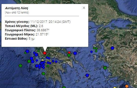 Δύο σεισμικές δονήσεις στην περιοχή του Αγρινίου (ΔΕΙΤΕ ΦΩΤΟ)