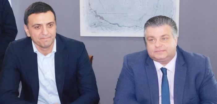 Συνάντηση του Δημάρχου Μεσολογγίου με τον Τομεάρχη Εθνικής Άμυνας της Νέας Δημοκρατίας Β. Κικίλια (ΔΕΙΤΕ ΦΩΤΟ)