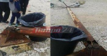 Τρόμος στα Βραχνέϊκα – Κατέρρευσε κολόνα ηλεκτροφωτισμού από …χαρταετό! (ΔΕΙΤΕ ΦΩΤΟ)