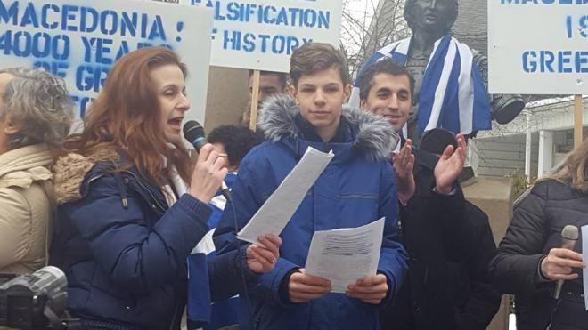 """«Έσπασε» καρδιές o 15χρονος από την Δυτική Ελλάδα στο Τορόντο – """"Η Μακεδονία είναι Ελληνική"""" (ΔΕΙΤΕ ΦΩΤΟ)"""