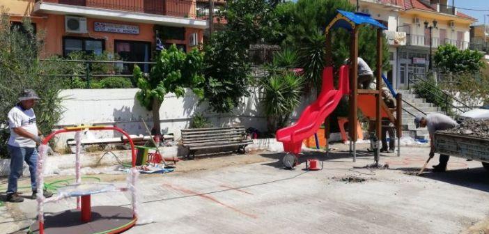 Ολοκληρώνεται η παιδική χαρά Ευηνοχωρίου (ΔΕΙΤΕ ΦΩΤΟ)