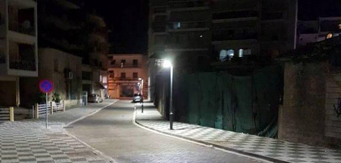 Αγρίνιο: Σε λειτουργία τα φωτιστικά τύπου Led στον πεζόδρομο Παναγόπουλου (ΦΩΤΟ)