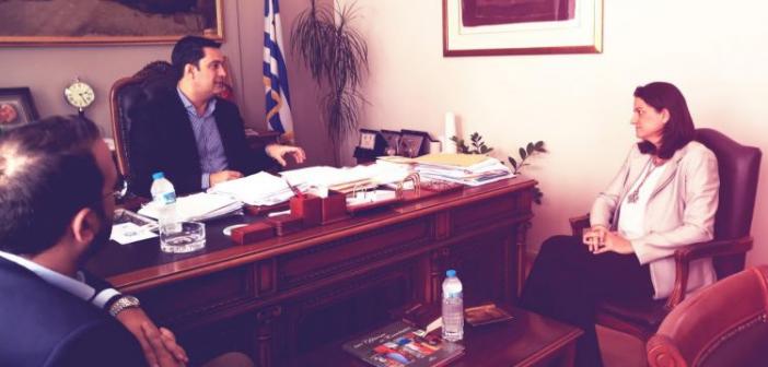 Συνάντηση Δημάρχου Αγρινίου με την Νίκη Κεραμεως (ΔΕΙΤΕ ΦΩΤΟ)
