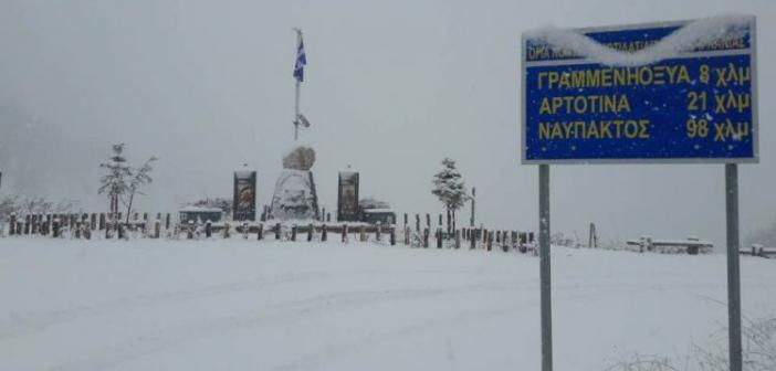 """Ορεινή Ναυπακτία: """"Ντύθηκε"""" στα… λευκά (ΦΩΤΟ + VIDEO)"""