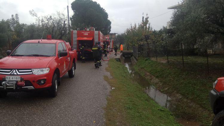 Καινούριο: Πυρκαγιά κινητοποίησε την Πυροσβεστική