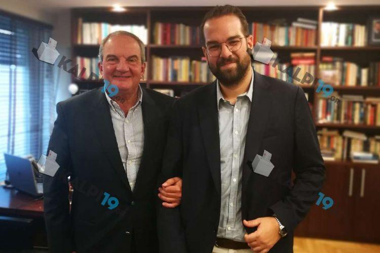 Συνάντηση Νεκτάριου Φαρμάκη με τον Κώστα Καραμανλή (ΔΕΙΤΕ ΦΩΤΟ)