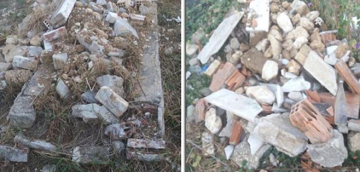 Εικόνα εγκατάλειψης στο παλιό κοιμητήριο στο Μοναστηράκι Βόνιτσας (ΔΕΙΤΕ ΦΩΤΟ)