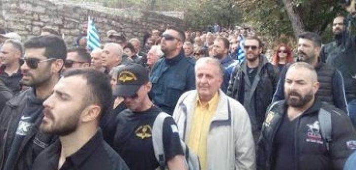 """Η Ενωμένη Ρωμιοσύνη Αγρινίου στους Βουλιαράτες για το """"τελευταίο αντίο"""" στον Κωνσταντίνο Κατσίφα (ΔΕΙΤΕ ΦΩΤΟ)"""