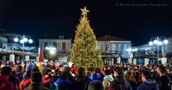 Δήμος Θέρμου: Σήμερα η φωταγώγηση του Χριστουγεννιάτικου δένδρου στην πλατεία