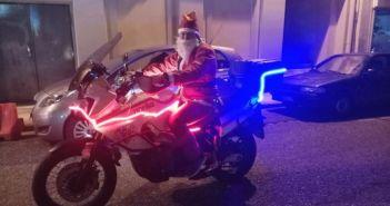 Αγρίνιο: Ο Άγιος Βασίλης έφτασε με μηχανή κυβισμού! (ΔΕΙΤΕ ΦΩΤΟ)