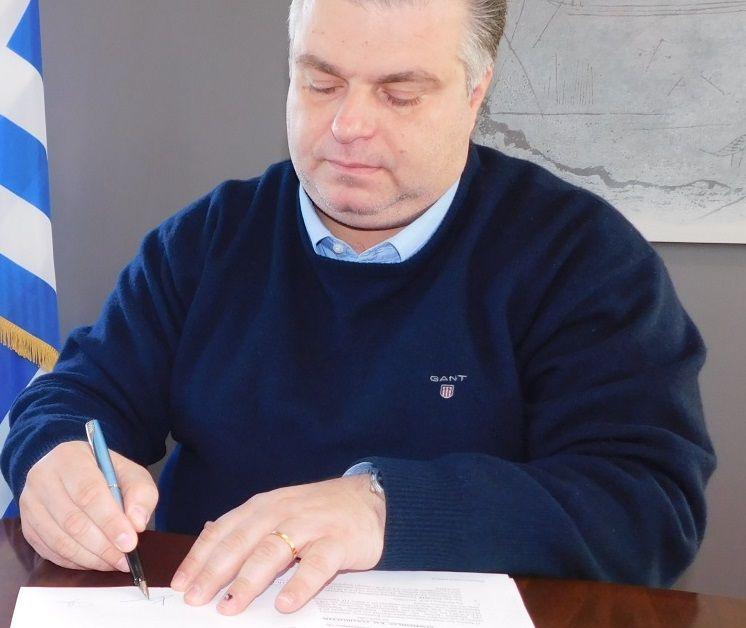 Υπεγράφη η σύμβαση για την «Ολοκλήρωση δικτύων ακαθάρτων Κεφαλοβρύσου και σύνδεση με ΕΕΛ Αιτωλικού» (ΔΕΙΤΕ ΦΩΤΟ)