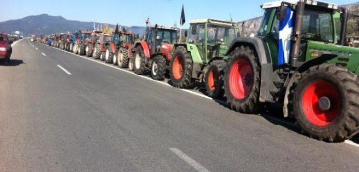 """Οι αγρότες κλείνουν για πέντε ώρες σήμερα την Ιόνια Οδό, στο ύψος του κόμβου """"Μπάγια"""" στο Χαλίκι Αιτωλικού"""