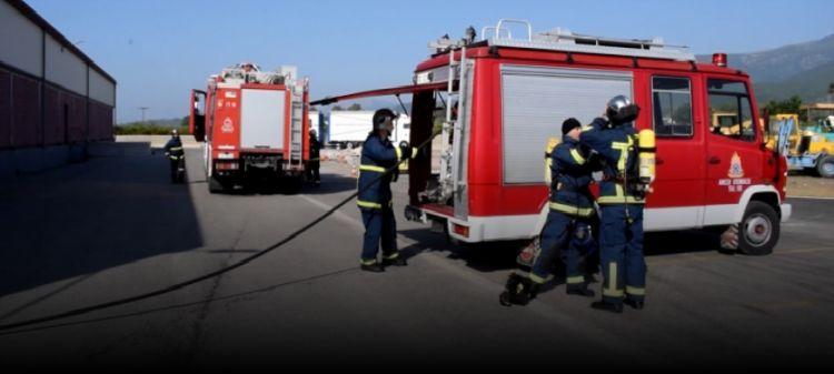 Ναυπακτία: Άσκηση ετοιμότητας πυρκαγιάς από την Πυροσβεστική υπηρεσία