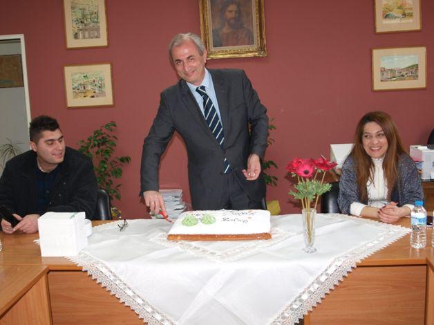 Ο Δήμος Θέρμου έκοψε την πρωτοχρονιάτικη πίτα του (ΔΕΙΤΕ ΦΩΤΟ)