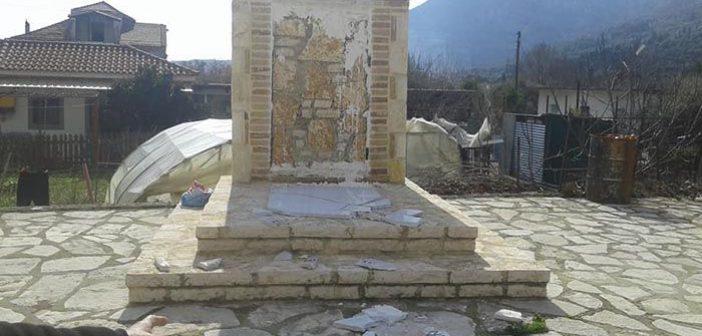 Δικογραφία για τον βανδαλισμό του Μνημείου Ηρώων στο Βασιλόπουλο Ξηρομέρου (ΦΩΤΟ)
