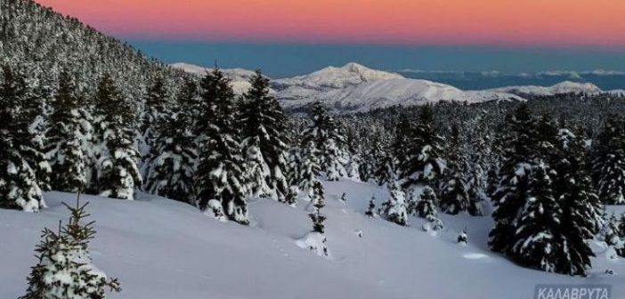 Χιονοδρομικό Καλαβρύτων: Μαγικές εικόνες από το μυθικό βουνό (ΔΕΙΤΕ ΦΩΤΟ)