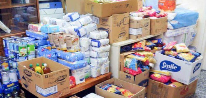 Διανομή τροφίμων από το Κοινωνικό Παντοπωλείο του Δήμου Ι.Π. Μεσολογγίου