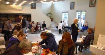 Μεγάλη συμμετοχή στην εθελοντική αιμοδοσία στο Παπαστράτειο Μέγαρο Αγρινίου (ΔΕΙΤΕ ΦΩΤΟ)