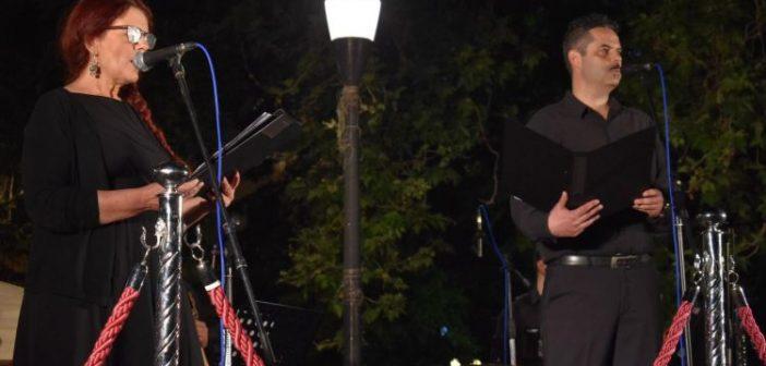 """Αγρίνιο: Γ. Πανουκλιάς και Αν. Γεωργιάδου καθήλωσαν τον κόσμο με εκκλησιαστικούς ύμνους και εγκώμια – """"Πορεία προς το Θείο Πάθος"""" (ΦΩΤΟ + VIDEO)"""