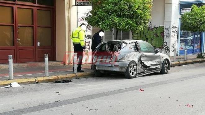 """Δυτική Ελλάδα: Σοβαρό τροχαίο με το """"καλημέρα"""" στο κέντρο της Πάτρας – Ένας τραυματίας (ΔΕΙΤΕ ΦΩΤΟ)"""