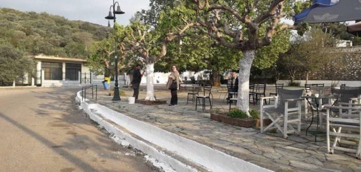 Σύλλογος Μαχαιριωτών Ξηρομέρου: Καθαρισμός και άσπρισμα της πλατείας του χωριού ενόψει του εορτασμού του Πάσχα (ΦΩΤΟ)
