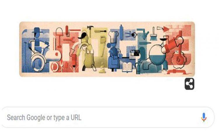 Στην εργατική Πρωτομαγιά αφιερωμένο το doodle της Google