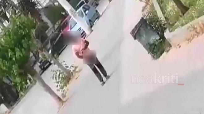 Τρόμος από επιδειξία στην Κρήτη: Αυνανιζόταν σε δημόσιο χώρο (ΔΕΙΤΕ VIDEO)