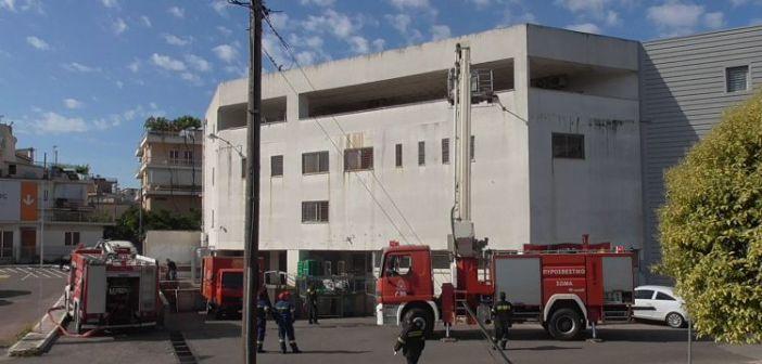 Πυρκαγιά σε σούπερ μάρκετ στο Αγρίνιο, το σενάριο άσκησης της Πυροσβεστικής (ΔΕΙΤΕ ΦΩΤΟ)