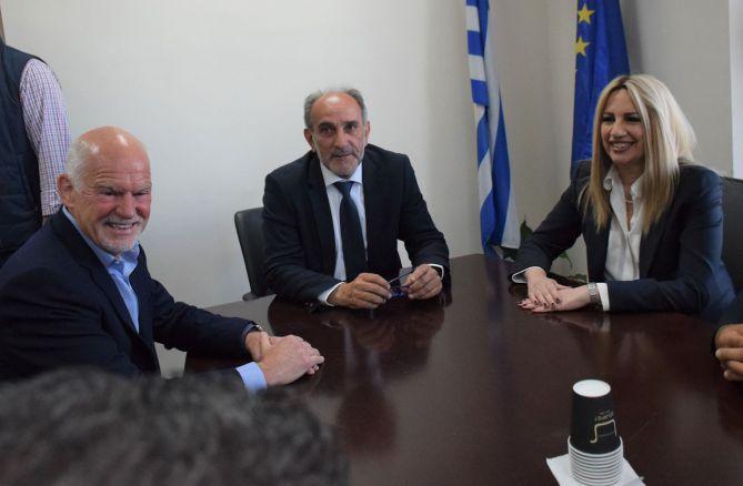 Στην Περιφέρεια Δυτικής Ελλάδας η Πρόεδρος του Κινήματος Αλλαγής Φώφη Γεννηματά και ο Γιώργος Παπανδρέου (ΔΕΙΤΕ ΦΩΤΟ)