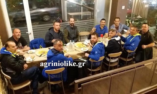 Γεύμα στους ποδοσφαιριστές της Π.Υ. Αγρινίου για τη νίκη επί του Δήμου Αγρινίου (ΔΕΙΤΕ ΦΩΤΟ)