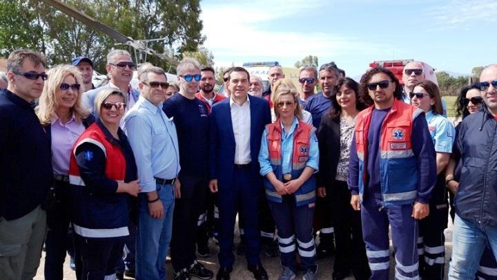 Ο Αλέξης Τσίπρας εγκαινίασε τη βάση Αεροδιακομιδών του ΕΚΑΒ στο αεροδρόμιο Ακτίου (ΦΩΤΟ)