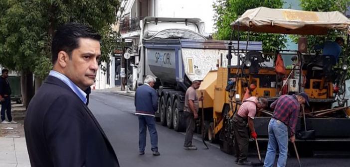 Εργασίες στην οδό Βαρνακιώτη επέβλεψε ο Δήμαρχος Αγρινίου (ΔΕΙΤΕ ΦΩΤΟ)