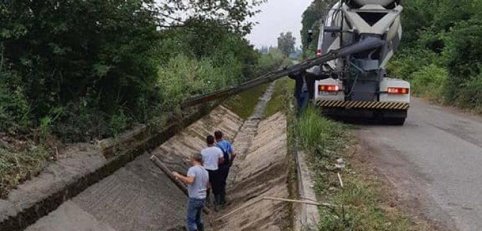 Επισκευή διώρυγας Δ8 στα Καλύβια (ΔΕΙΤΕ ΦΩΤΟ)
