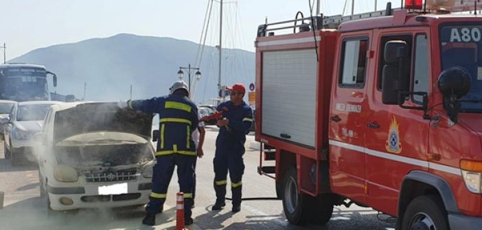 Φωτιά σε αυτοκίνητο στη Λευκάδα (ΔΕΙΤΕ ΦΩΤΟ + VIDEO)