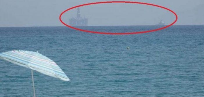 Πλατφόρμα εξόρυξης πετρελαίου ανοιχτά του Αστακού (ΔΕΙΤΕ ΦΩΤΟ)