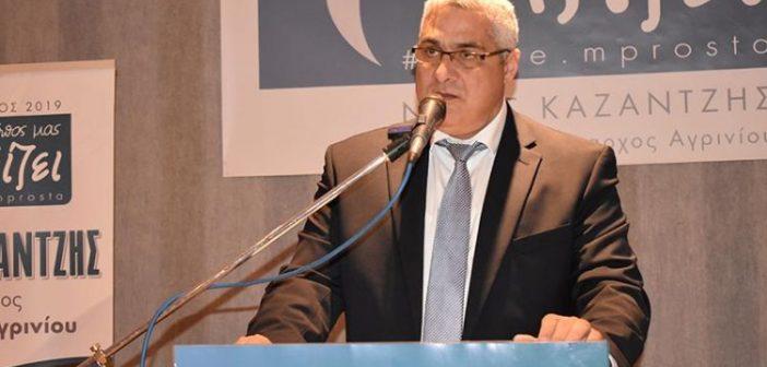 Η ανακοίνωση του Νίκου Καζαντζή για το εκλογικό αποτέλεσμα στην Περιφέρεια Δυτικής Ελλάδας